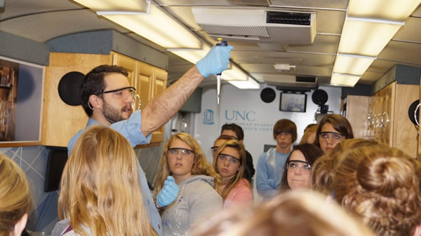 "BGCS Students ""Get on Board"" with Science with the UNC Destiny Bus"